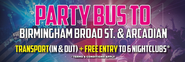 Visit Uk - Party Bus To Birmingham