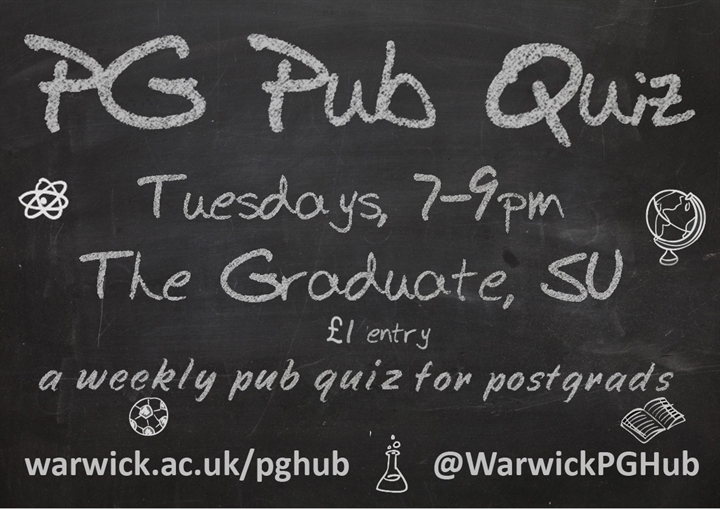 Postgraduate Pub Quiz (FREE EVENT)